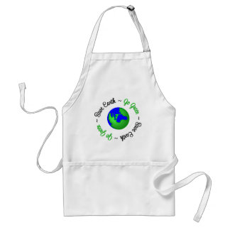 Save Earth Go Green Globe Adult Apron