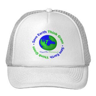 Save Earth Go Green Globe Hat