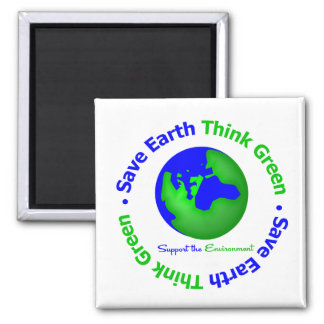 Save Earth Go Green Globe Refrigerator Magnets