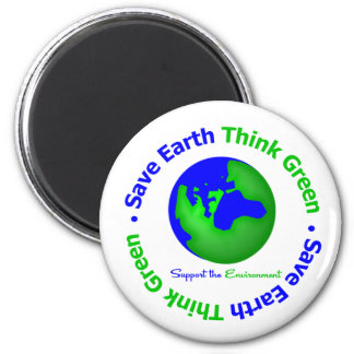 Save Earth Go Green Globe Magnets
