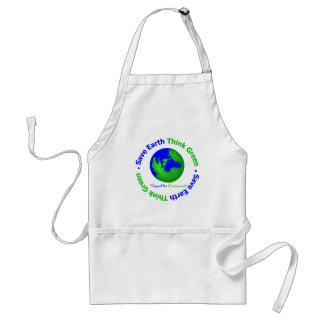 Save Earth Go Green Globe Standard Apron