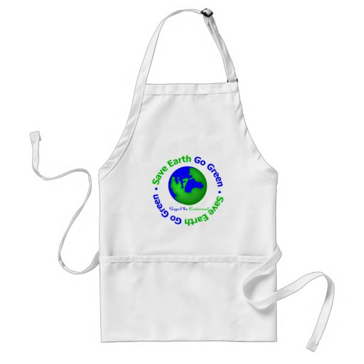 Save Earth Go Green Support the Environment Apron