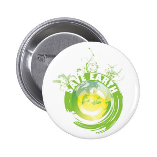 Save Earth keychain, button & magnet.