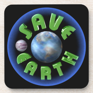 Save Earth on 100+ products by Valxart com Drink Coasters