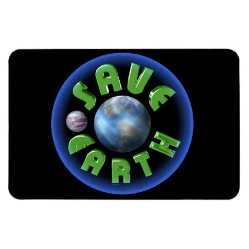 Save Earth on 100 products Vinyl Magnet