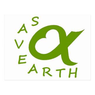 save earth planet postcard