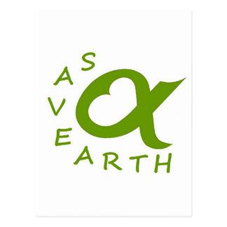 save earth planète cartes postales