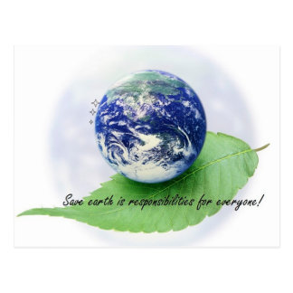 Save earth post card