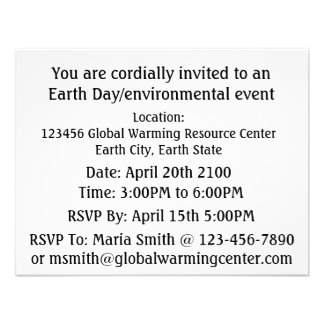 Save Earth Stop Global Warming Blue Marble Earth Personalized Announcement