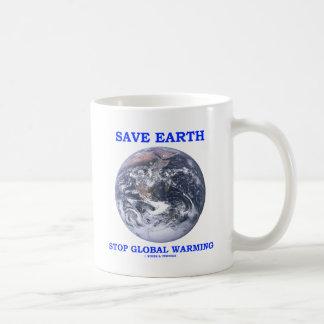 Save Earth Stop Global Warming (Blue Marble Earth) Coffee Mugs