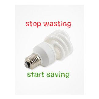 Save energy 21.5 cm x 28 cm flyer