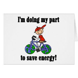 Save Energy Environmental Tshirts and Gifts Greeting Card