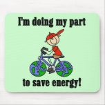 Save Energy Environmental Tshirts and Gifts Mouse Mats