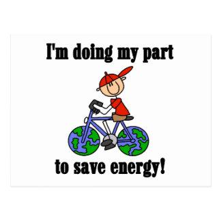Save Energy Environmental Tshirts and Gifts Postcard