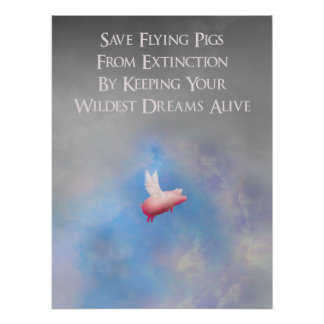 Save Flying Pigs Poster