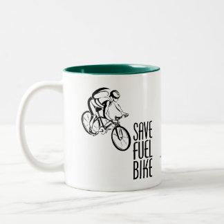 Save Fuel Biking Coffee Mugs