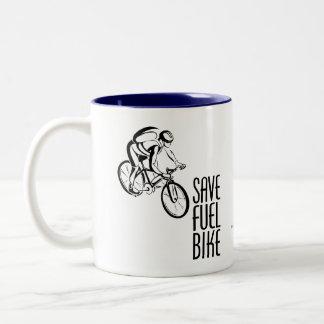 Save Fuel Biking Mugs