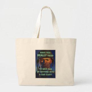 Save Gas World War II Jumbo Tote Bag