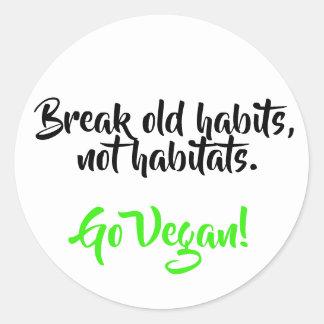 Save habitats round sticker