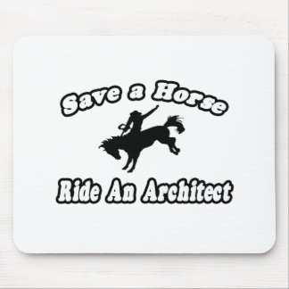 Save Horse Ride Architect Mousepad