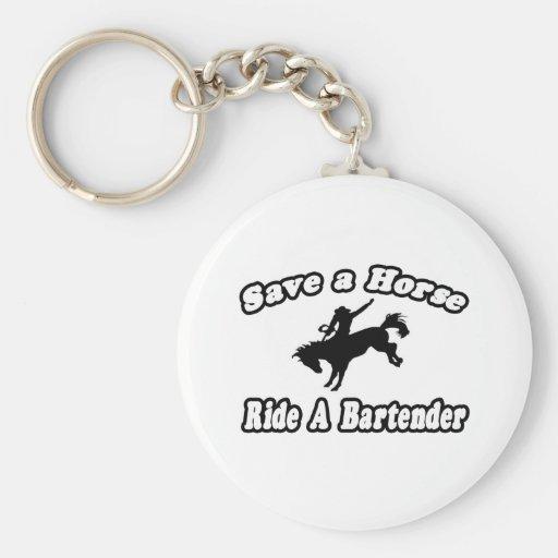 Save Horse, Ride Bartender Keychain