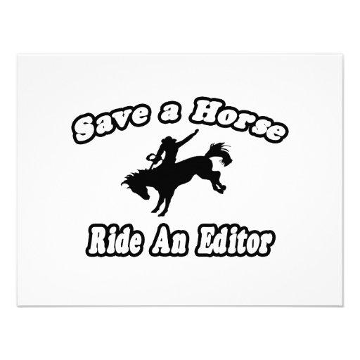 Save Horse, Ride Editor Personalized Invitation