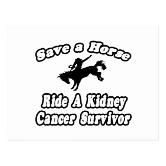 Save Horse, Ride Kidney Cancer Survivor Postcard