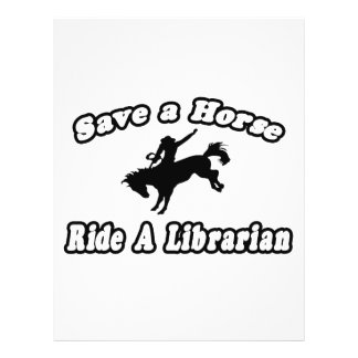 Save Horse Ride Librarian Full Color Flyer