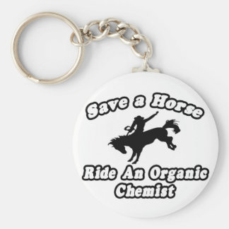 Save Horse, Ride Organic Chemist Basic Round Button Key Ring