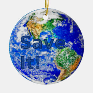 Save It! Earth Ornament
