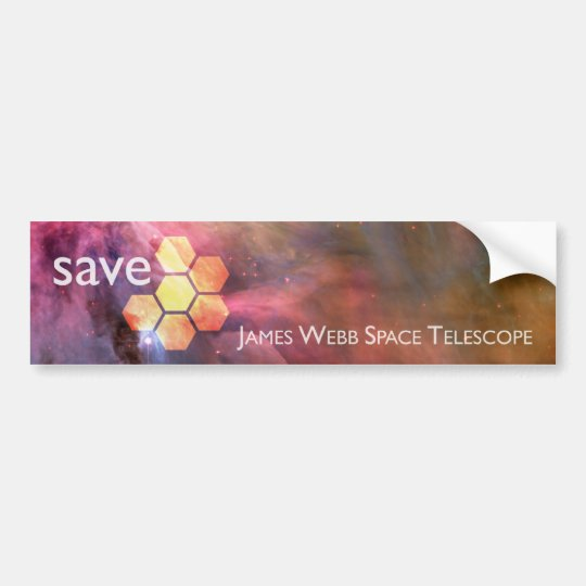 Save JWST: James Webb Space Telescope Bumper Sticker