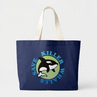 Save Killer Whales Jumbo Tote Bag