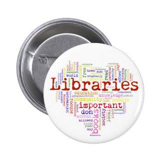 Save libraries 3 6 cm round badge