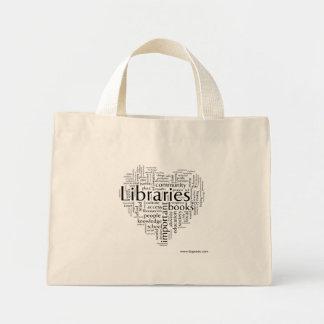 Save libraries 5 mini tote bag
