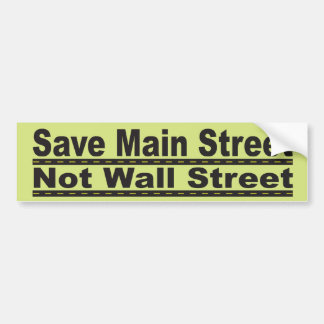 Save Main Street Bumper Sticker