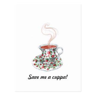 Save / Make Me a Cuppa! Postcard