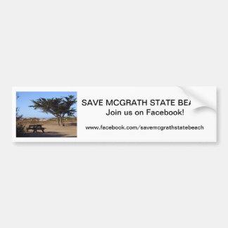 Save McGrath SB Bumper Sticker 1