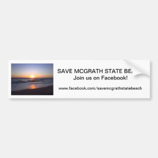 Save McGrath SB Bumper Sticker 2