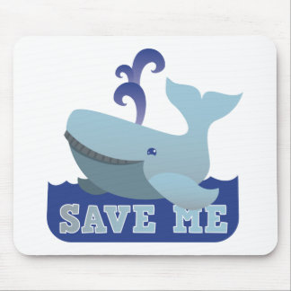 SAVE ME cute little whale Mousepads