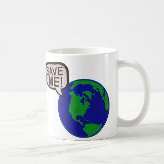 Save Me - Earth Basic White Mug