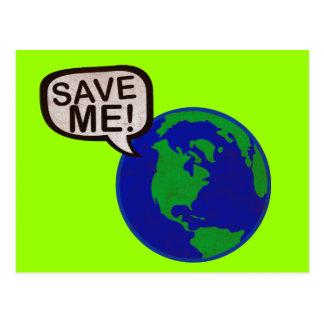 Save Me - Earth Postcard