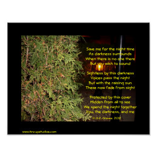 Save Me For The Night Time Poetry Poster