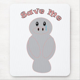 Save Me Manatee Mousepad