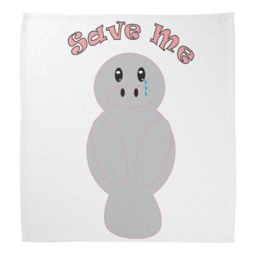 Save Me (Manatee) Bandannas