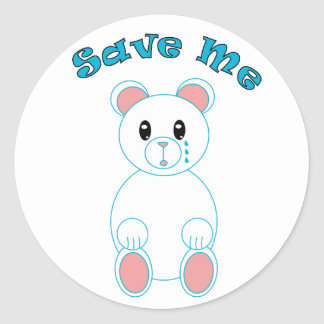 Save Me Polar Bear Sticker