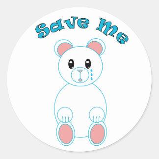 Save Me Polar Bear Sticker
