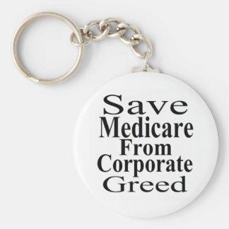 Save Medicare From Corporate Greed Basic Round Button Key Ring