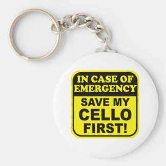 Save My Cello Basic Round Button Key Ring