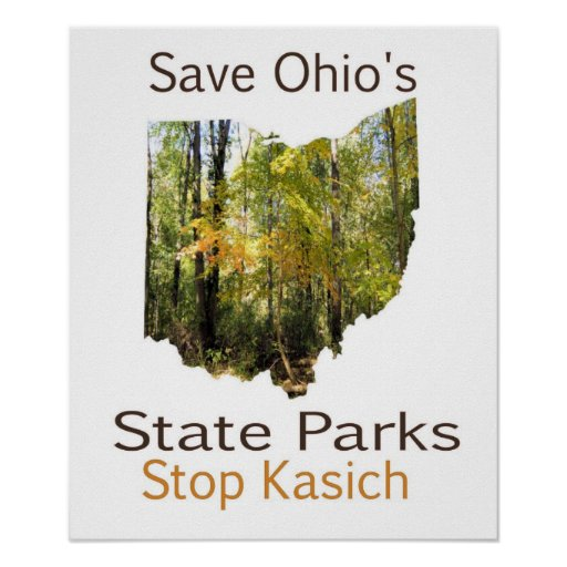 Save Ohio's State Parks Poster