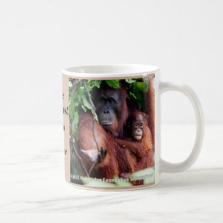 Save Orangutans Endangered Animal Basic White Mug